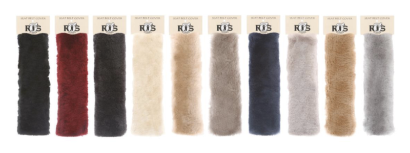 Sheepskin Accessories - Seat Belt Covers (SBC) - 10 colors - OSFA
