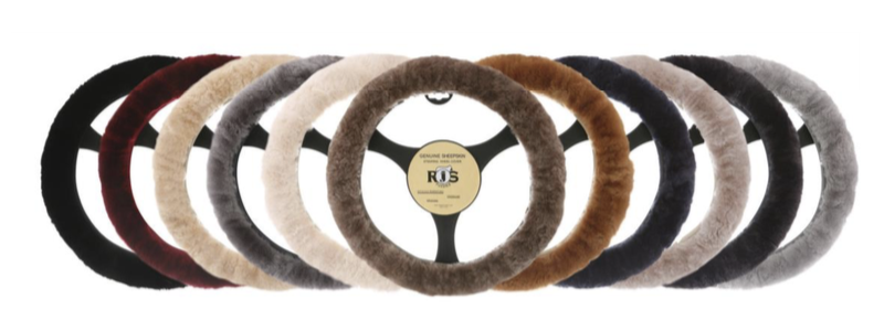 Sheepskin Accessories - SWC Steering Wheel Covers - 10 colors - OSFA