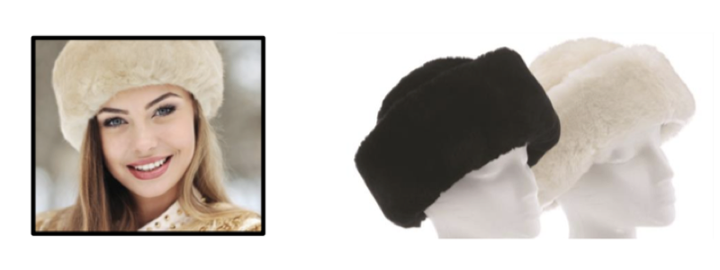 Sheepskin SnowBall Hats - Black & White - Size: S-M-L-XL