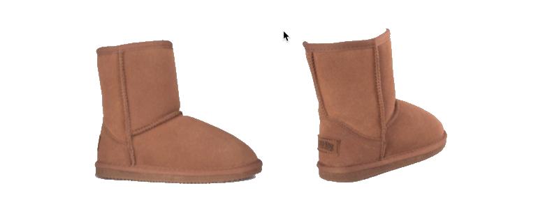 Sheepskin Kids Youth Boots Chestnut - 800x300 - white