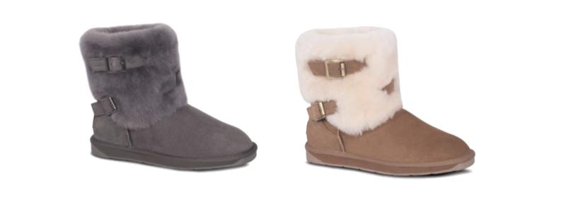Sheepskin Ladies 2 Buckles Boots - Grey & Chest - 800x300 - white