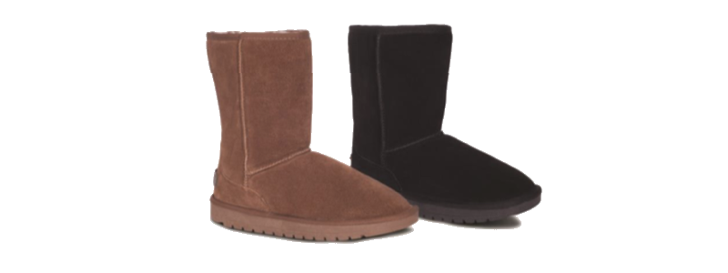 Sheepskin Ladies 9 Boots - Chest & Black - 800x300 - white