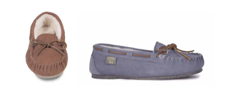 LADIES DRIVING MOCCASIN Color: Chestnut, Grey, Sizes: 5-11