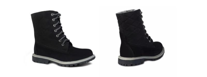 Sheepskin Ladies JoJo Boots - Black - 800x300 - white