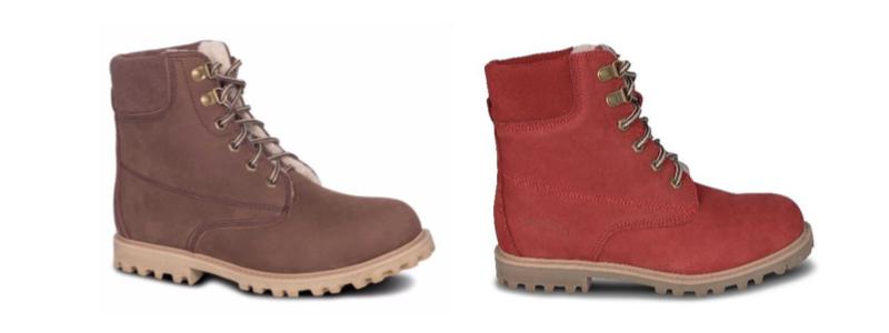 Sheepskin Ladies Kindra Boots - Choc & Red - 800x300 - white