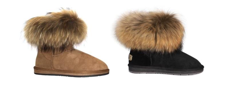 Sheepskin Ladies Rocco Boots - Chest & Black - 800x300 - white
