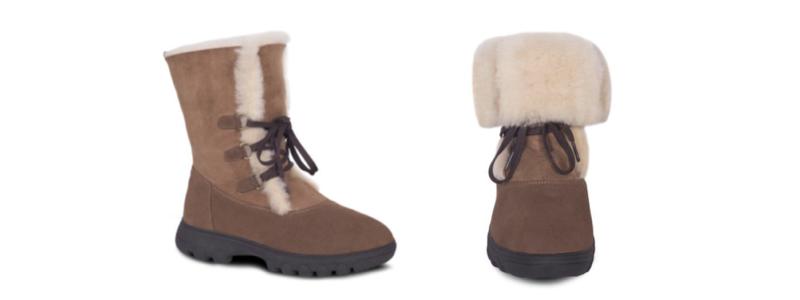 Sheepskin Ladies Rosalita Boots - 800x300 - white