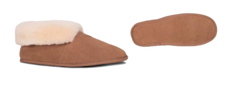 LADIES SOFT LEATHER SOLE BOOTIE -- Color: Chestnut -- Sizes: 5-6-7-8-9-10-11