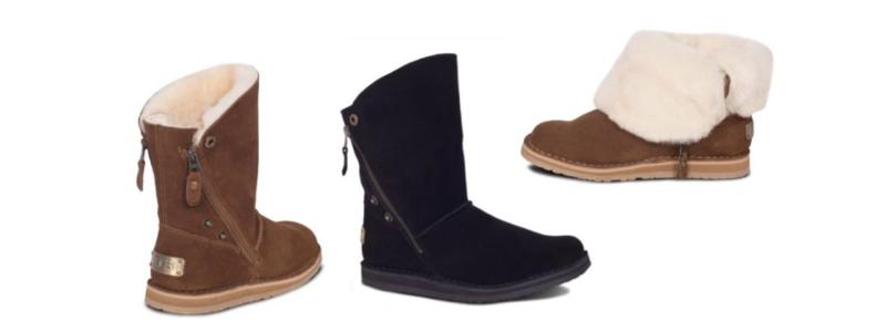 Sheepskin Ladies Trixie Boots - Chest & Black - 800x300 - white