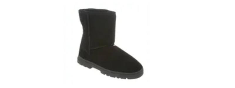 "Men's Sheepskin 8"" Boots (Slipper) -- size 9-10-11-12-13-14-15 -- Color Black with Outdoor Sole"