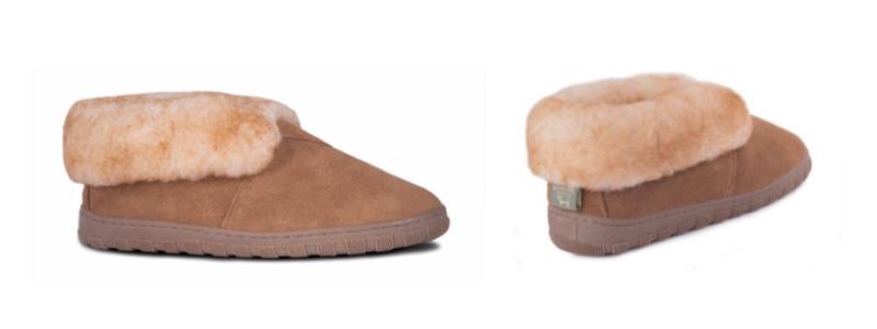 Men's Sheepskin Bootie -- size 7-8-9-10-11-12-13-14-15-16 -- Color Chestnut