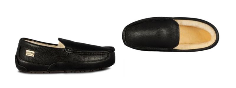 Men's Sheepskin Jackson Loafer Slipper -- size 7-8-9-10-11-12-13 -- Color Black