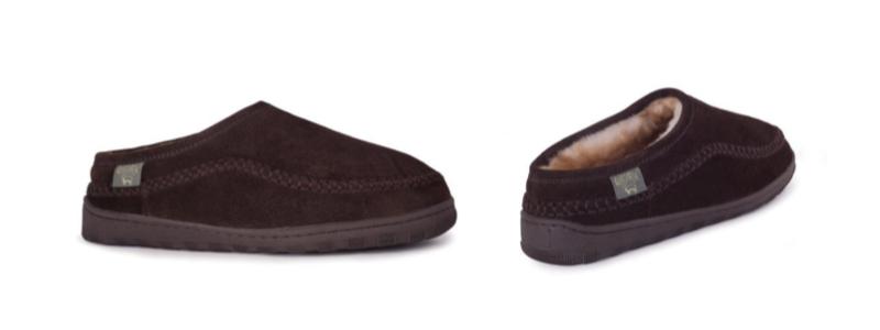Men's Sheepskin Pacific Slide Slipper -- size 7-8-9-10-11-12-13-14 -- Color Chocolate