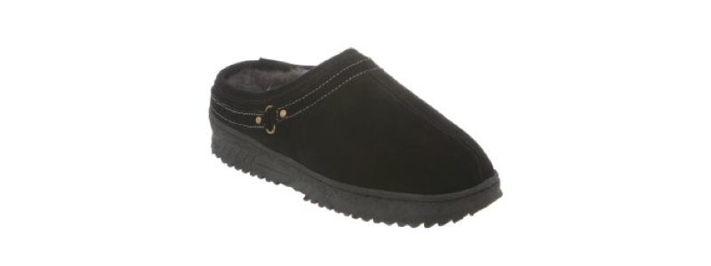 Men's Sheepskin Unisex Slide Slipper -- size 4-5-6-7-8-9-10-11-12-13-14 -- Color Black with Outdoor Sole