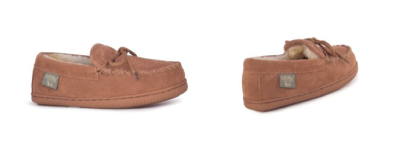 Kid Moccasin - Chestnut - Size 6-7, 8-9, 10-11, 12-13, 1, 2, 3, 4